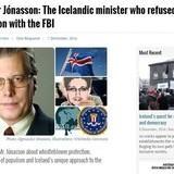 Planeload of FBI agents sent to Iceland.