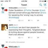 Wikileaks vs Twitter CEO