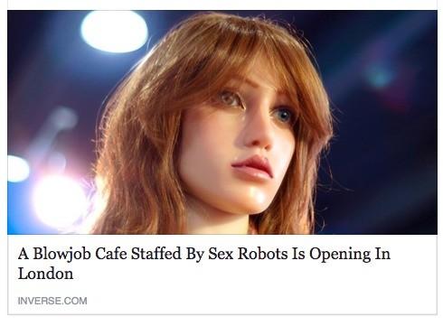 Blowjob robots. .. They're...afraid! Blowjob robots They're afraid!