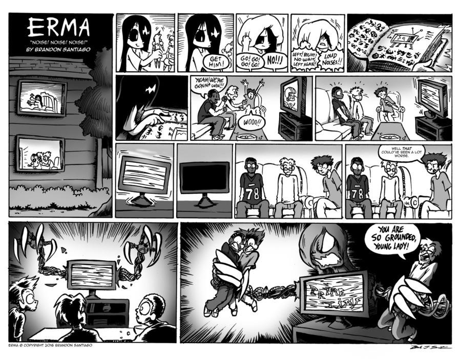 New Erma comic.. Source: brandontheoutcast.tumblr.com/ . WI! RE. it's prime time for erma comics. erma